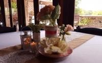 romantic centerpiece with patio view