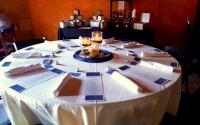 Seated Dinner Blue Decor