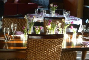 Ecelctic Rehearsal Dinner Tables