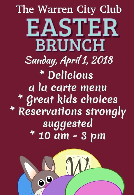 Easter Sunday Brunch 2018
